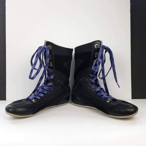 PUMA Womens Ring Mid-Calf Black Boots Sneakers